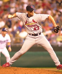 Cardinals pitcher Dave Veres in the sixth inning.