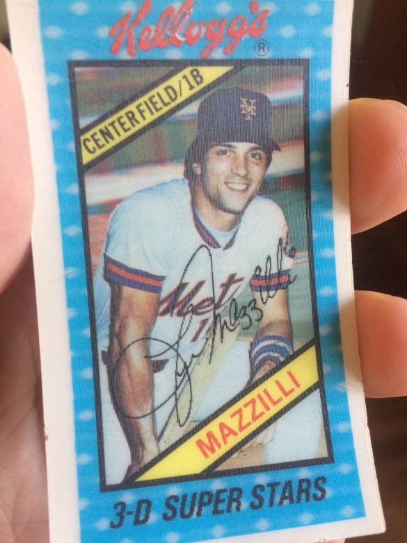 Lee Mazzilli 1980 Kelloggs 3d Super Stars Card Sully