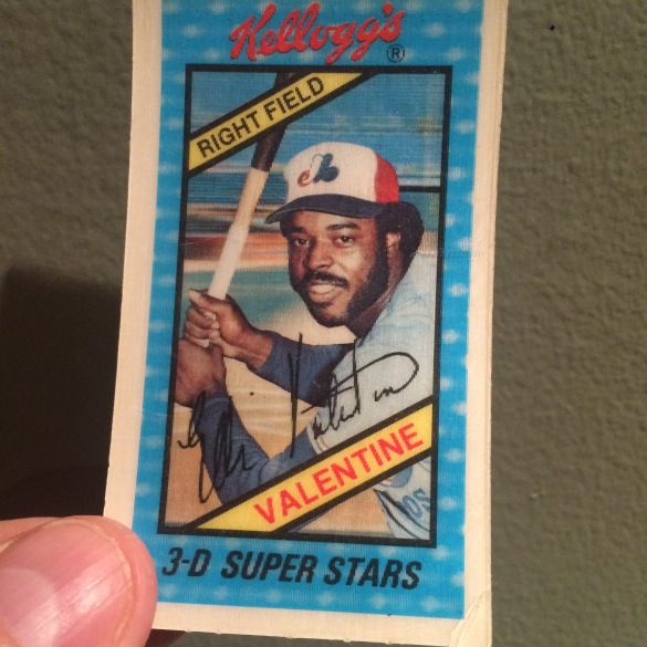 Ellis Valentine 1980 Kelloggs 3 D Super Stars Card Sully